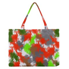 Abstract Watercolor Background Wallpaper Of Splashes  Red Hues Medium Zipper Tote Bag