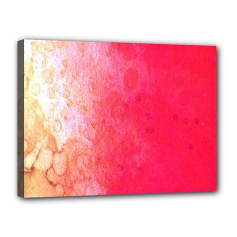 Abstract Red And Gold Ink Blot Gradient Canvas 16  X 12