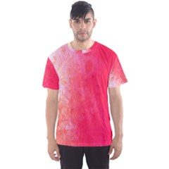 Abstract Red And Gold Ink Blot Gradient Men s Sport Mesh Tee by Nexatart