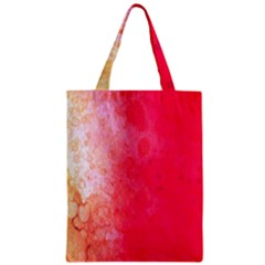 Abstract Red And Gold Ink Blot Gradient Classic Tote Bag