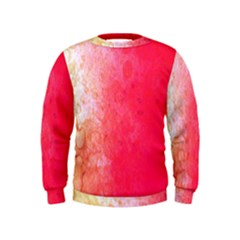 Abstract Red And Gold Ink Blot Gradient Kids  Sweatshirt by Nexatart