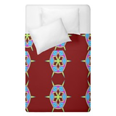 Geometric Seamless Pattern Digital Computer Graphic Wallpaper Duvet Cover Double Side (single Size) by Nexatart