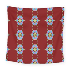 Geometric Seamless Pattern Digital Computer Graphic Wallpaper Square Tapestry (large)