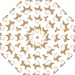 Cute Cats Seamless Wallpaper Background Pattern Hook Handle Umbrellas (medium) by Nexatart
