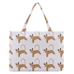 Cute Cats Seamless Wallpaper Background Pattern Medium Zipper Tote Bag by Nexatart