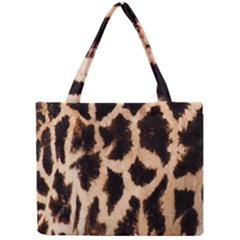 Yellow And Brown Spots On Giraffe Skin Texture Mini Tote Bag by Nexatart