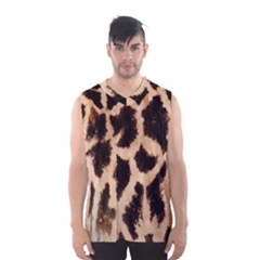 Yellow And Brown Spots On Giraffe Skin Texture Men s Basketball Tank Top