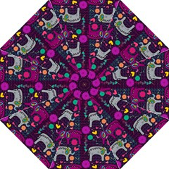 Love Colorful Elephants Background Straight Umbrellas by Nexatart