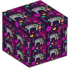 Love Colorful Elephants Background Storage Stool 12   by Nexatart