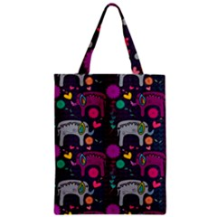 Love Colorful Elephants Background Classic Tote Bag