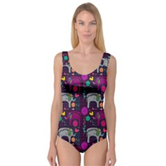 Love Colorful Elephants Background Princess Tank Leotard