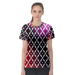 Flowers Digital Pattern Summer Woods Art Shapes Women s Sport Mesh Tee
