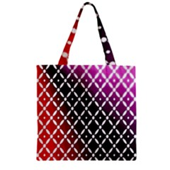 Flowers Digital Pattern Summer Woods Art Shapes Zipper Grocery Tote Bag