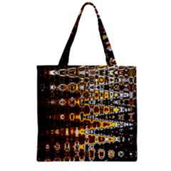 Bright Yellow And Black Abstract Zipper Grocery Tote Bag by Nexatart