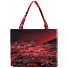 Red Fractal Valley In 3d Glass Frame Mini Tote Bag