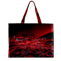 Red Fractal Valley In 3d Glass Frame Zipper Mini Tote Bag by Nexatart