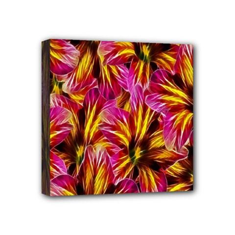 Floral Pattern Background Seamless Mini Canvas 4  X 4  by Nexatart