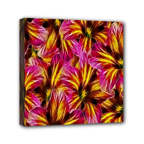 Floral Pattern Background Seamless Mini Canvas 6  X 6  by Nexatart