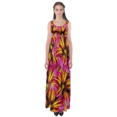 Floral Pattern Background Seamless Empire Waist Maxi Dress