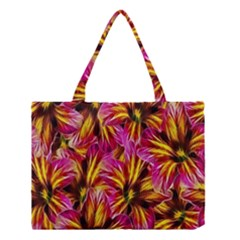 Floral Pattern Background Seamless Medium Tote Bag by Nexatart