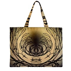 Atmospheric Black Branches Abstract Mini Tote Bag
