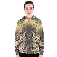 Atmospheric Black Branches Abstract Women s Zipper Hoodie by Nexatart