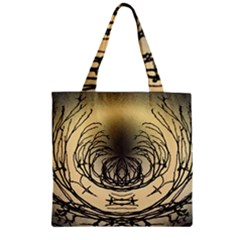 Atmospheric Black Branches Abstract Zipper Grocery Tote Bag by Nexatart