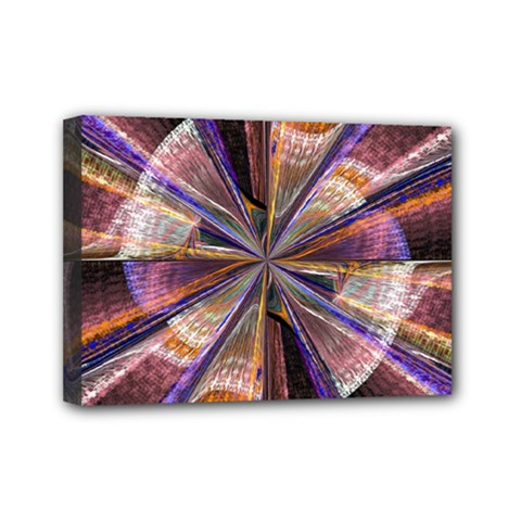 Background Image With Wheel Of Fortune Mini Canvas 7  X 5