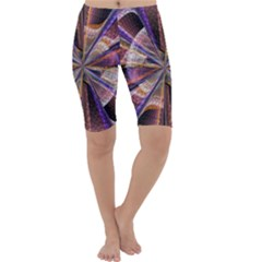 Background Image With Wheel Of Fortune Cropped Leggings