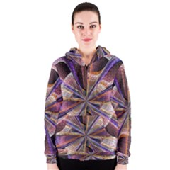 Background Image With Wheel Of Fortune Women s Zipper Hoodie