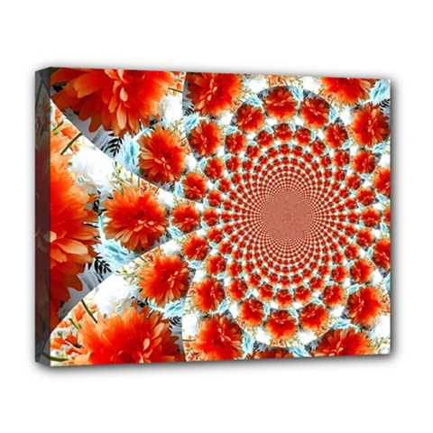 Stylish Background With Flowers Deluxe Canvas 20  X 16