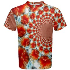 Stylish Background With Flowers Men s Cotton Tee by Nexatart