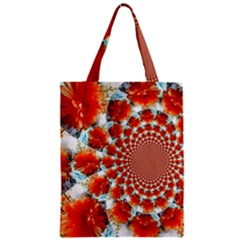 Stylish Background With Flowers Zipper Classic Tote Bag by Nexatart