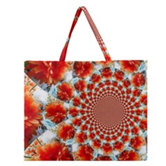 Stylish Background With Flowers Zipper Large Tote Bag by Nexatart