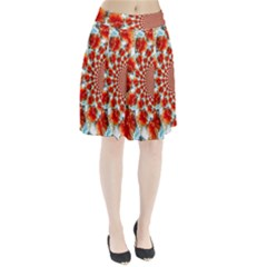 Stylish Background With Flowers Pleated Skirt by Nexatart