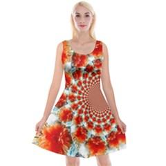 Stylish Background With Flowers Reversible Velvet Sleeveless Dress by Nexatart