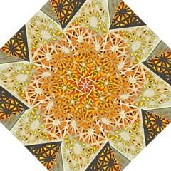 Abstract Starburst Background Wallpaper Of Metal Starburst Decoration With Orange And Yellow Back Hook Handle Umbrellas (large) by Nexatart
