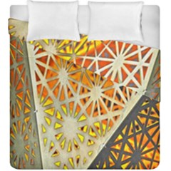 Abstract Starburst Background Wallpaper Of Metal Starburst Decoration With Orange And Yellow Back Duvet Cover Double Side (king Size)