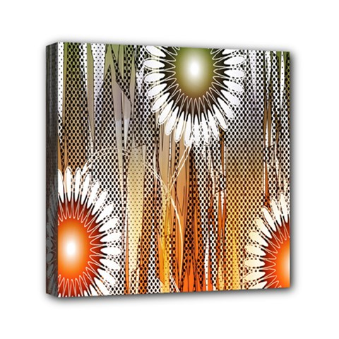 Floral Abstract Pattern Background Mini Canvas 6  X 6