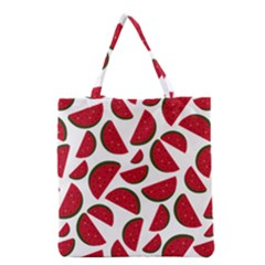 Fruit Watermelon Seamless Pattern Grocery Tote Bag by Nexatart