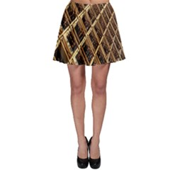 Construction Site Rusty Frames Making A Construction Site Abstract Skater Skirt by Nexatart