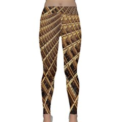 Construction Site Rusty Frames Making A Construction Site Abstract Classic Yoga Leggings by Nexatart