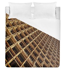 Construction Site Rusty Frames Making A Construction Site Abstract Duvet Cover (queen Size) by Nexatart