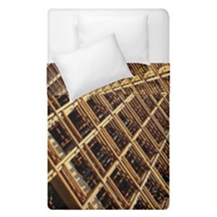 Construction Site Rusty Frames Making A Construction Site Abstract Duvet Cover Double Side (single Size) by Nexatart