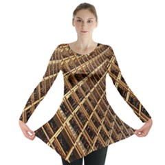 Construction Site Rusty Frames Making A Construction Site Abstract Long Sleeve Tunic  by Nexatart