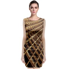 Construction Site Rusty Frames Making A Construction Site Abstract Classic Sleeveless Midi Dress by Nexatart