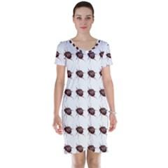 Insect Pattern Short Sleeve Nightdress