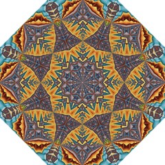 Kaleidoscopic Pattern Colorful Kaleidoscopic Pattern With Fabric Texture Straight Umbrellas by Nexatart