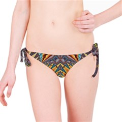 Kaleidoscopic Pattern Colorful Kaleidoscopic Pattern With Fabric Texture Bikini Bottom
