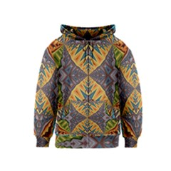 Kaleidoscopic Pattern Colorful Kaleidoscopic Pattern With Fabric Texture Kids  Zipper Hoodie